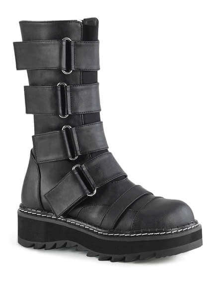 LILITH-211 Mid-Calf Strap Boots