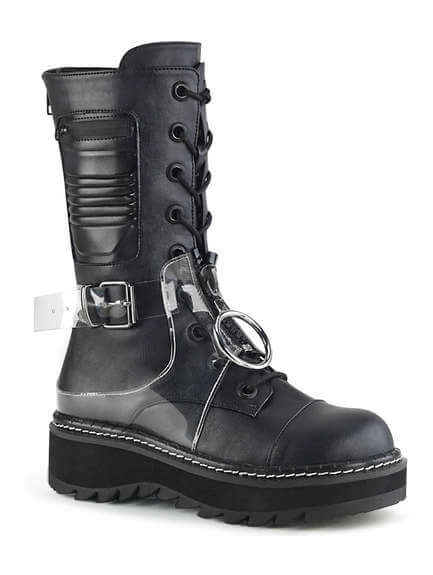 LILITH-271 Platform Boots w Clear Harness