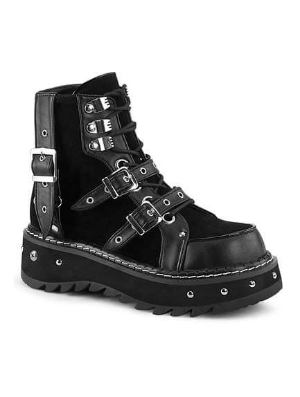 LILITH-278 Metal Studded Ankle Boot