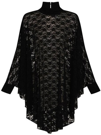 Gothic Lydia Lace Drape Dress