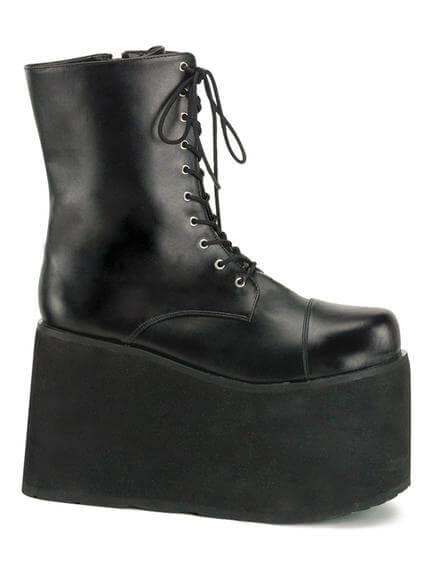 MONSTER-10 Black Platform Boots