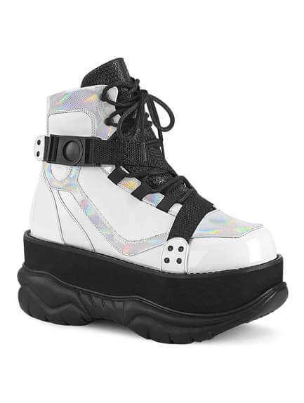 NEPTUNE-181 Men's White Platform Boots