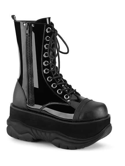 NEPTUNE-200 Patent Men's Platform Boots