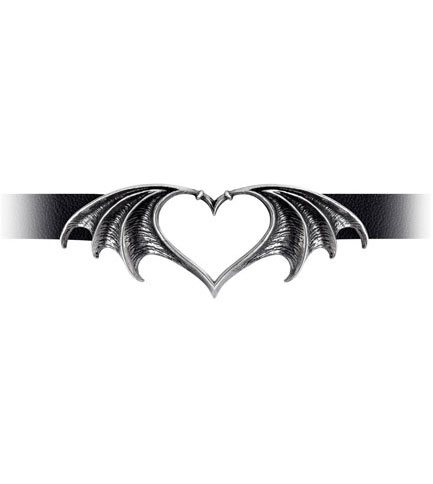 Nocte Amor bat-winged open-heart Choker