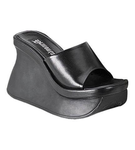 PACE-01 Black Platform Sandals