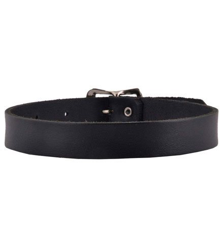 Plain Leather Buckle Choker