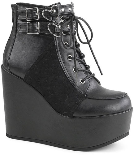 Poison-105 Platform Boots with Hearts