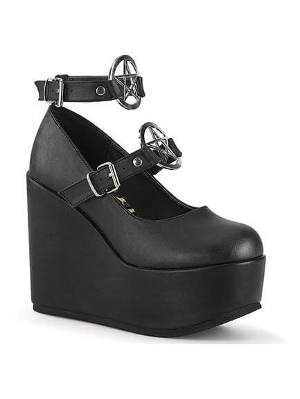 21290da44b4e3 POISON-99 Pentagram Mary Jane Platforms