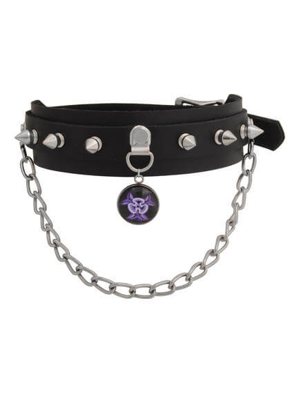 warfare purple biohazard choker