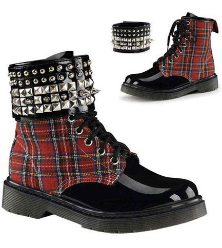 RIVAL-106 Plaid Pyramid Boots