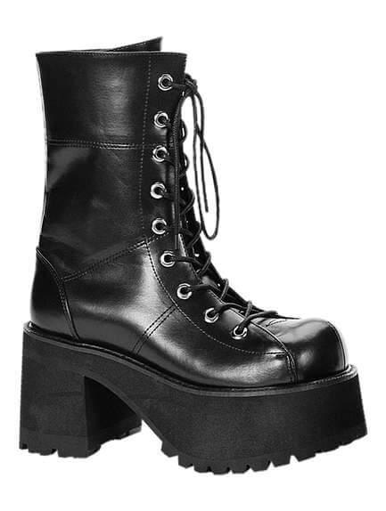 RANGER-301 Black Platform Boots