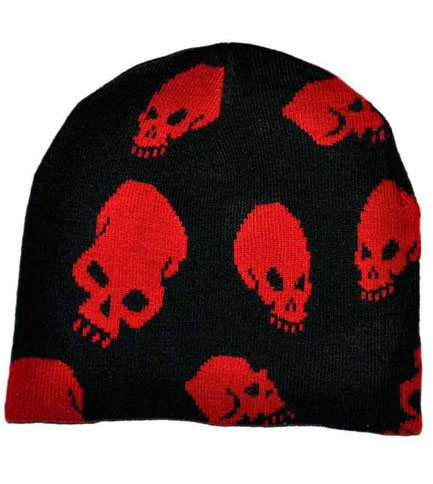 Red Skull Beanie Hat