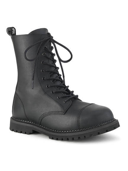 RIOT-10 Vegan Leather Combat Boots