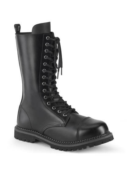 RIOT-14 Leather 14 Eyelet Lace-up Combat Boots