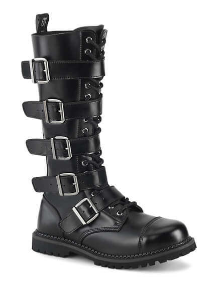 RIOT-18 Leather Steel Toe Combat Boots