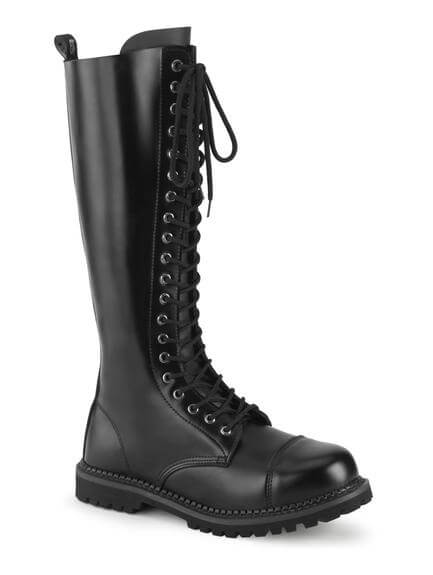RIOT-20 20 Eyelet Leather Combat Boots