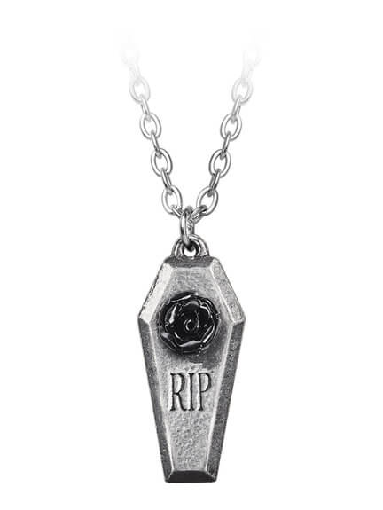 RIP Rose Pendant Necklace
