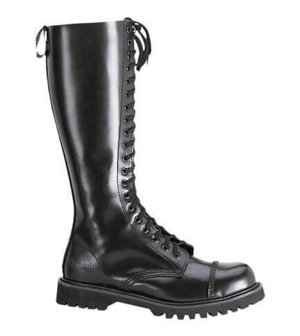 ROCKY-20 Tall Black Leather Boots