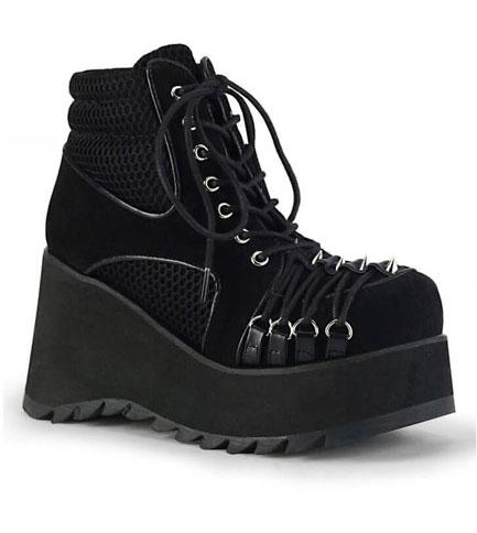SCENE-32 vegan suede platform boots