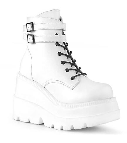 SHAKER-52 White Platform Boots
