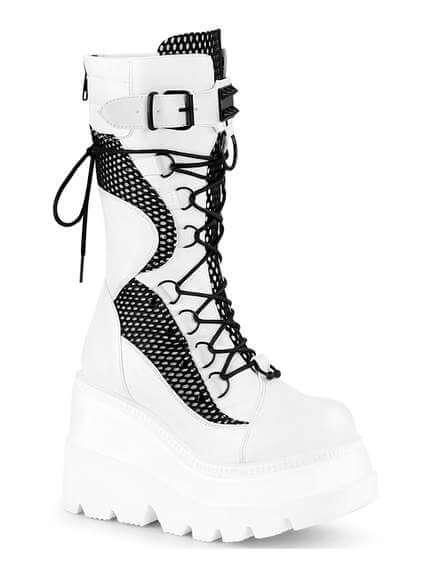 SHAKER-70 White Platform Boots
