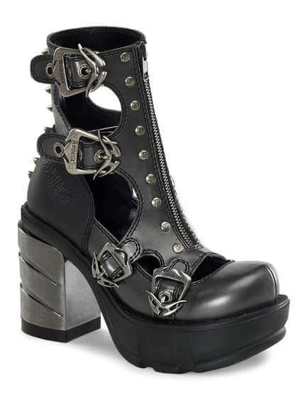 SINISTER-61 Black Chromed Boots