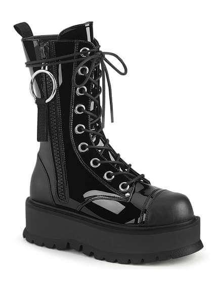 SLACKER-220 Women's Patent Platform Boots