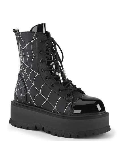 SLACKER-88 Spiderweb Platform Boots