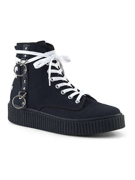 SNEEKER-256 Black Canvas Sneakers