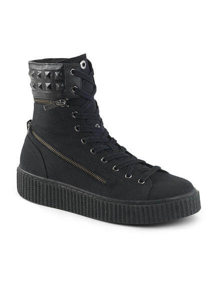 SNEEKER-270 Zippered Canvas Sneaker Boots
