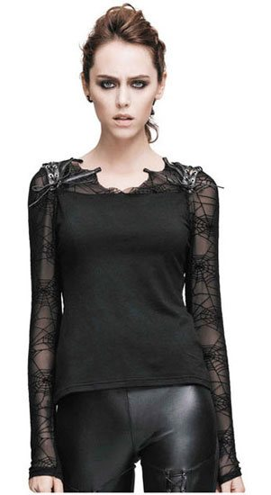 Sofia Womens Spider Web Long Sleeve Shirt