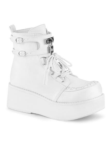 SPRITE-70 White Platform Boots