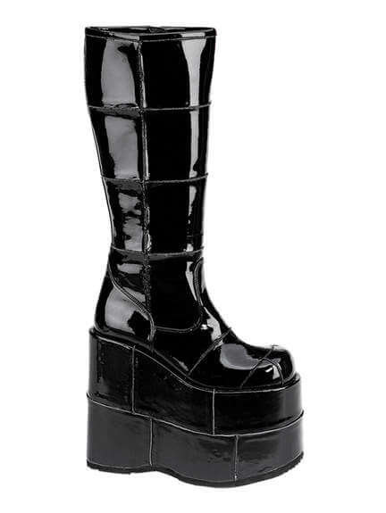STACK-301 Black Patent Platforms