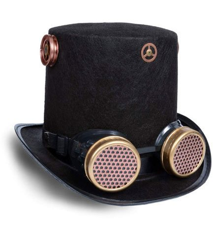 Steampunk Goggles Hat
