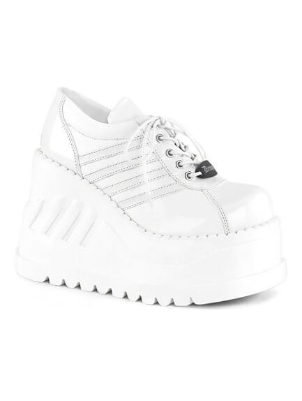 STOMP-08 White Platform Shoes
