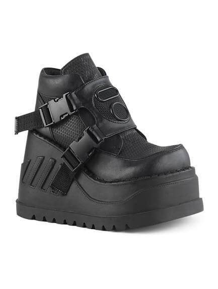 STOMP-15 Black Platform Shoes