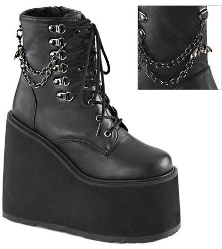 SWING-101 Black Platform Boots