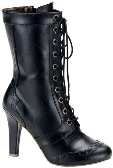TESLA-102 Black Steampunk Boots