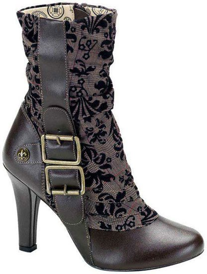 TESLA-106 Brown Steampunk Boots