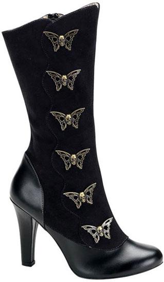TESLA-107 Black Steampunk Boots
