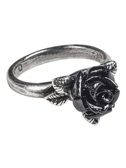 Token of Love Black Rose Ring