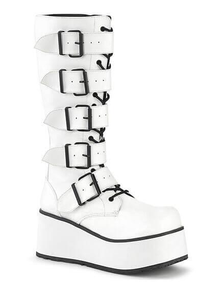 Trashville-518 white platform boots