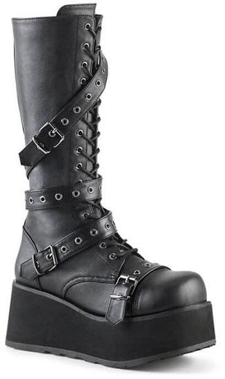 TRASHVILLE-520 men's 17 eyelet platform boots