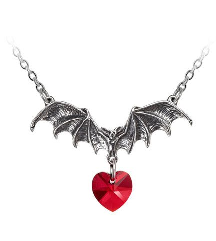 Vampire Loveheart Pendant Necklace