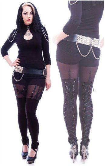 Gothic Venda Strap Leggings