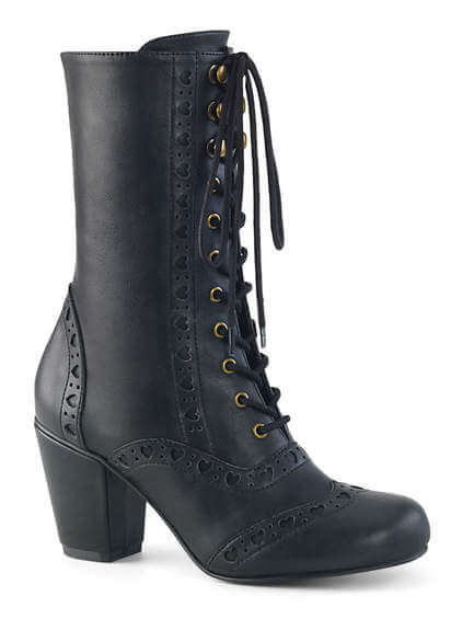 VIVIKA-200 Wingtip Lace-Up Mid-Calf Boot
