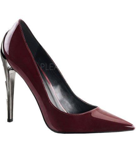 VOLTAGE-01 Burgundy Stiletto Heels