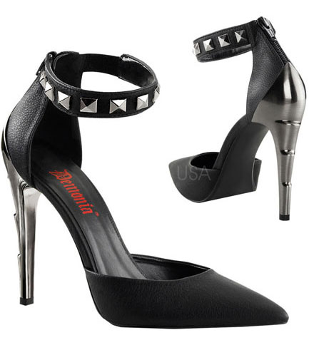 VOLTAGE-06 Pointy Studded Heels