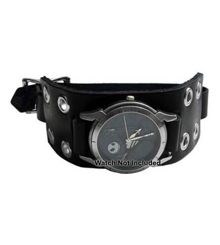 WB3E Black Leather Watchband