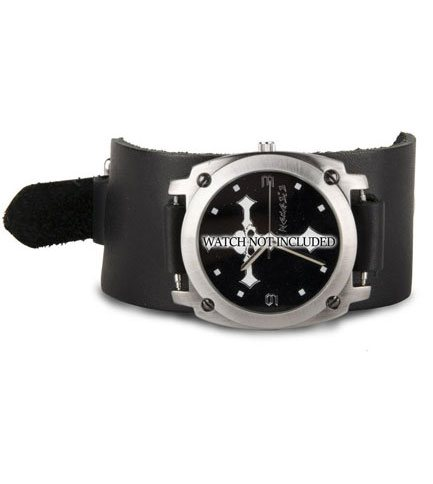 WB3 Black Leather Watchband